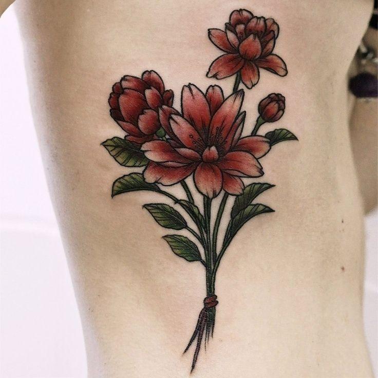 Флокса. Женские татуировки. Phlox. Woman tattoo.