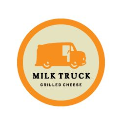 Milk Truck Grilled Cheese - an NYC food truck. We should find these folks next time we make it to the Big Apple.
