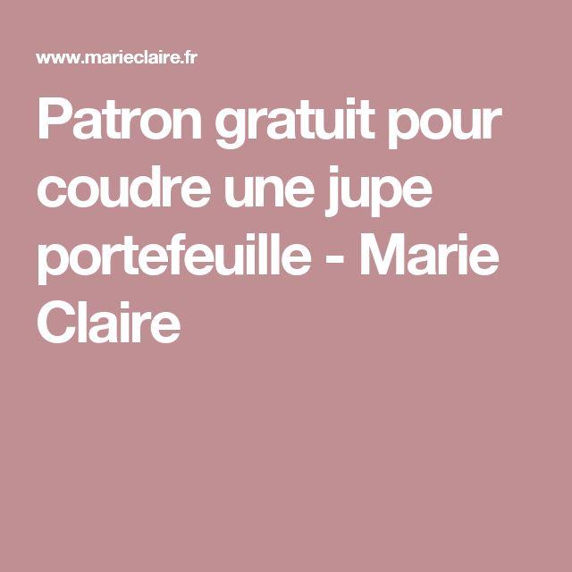 Patron gratuit pour coudre une jupe portefeuille - Marie Claire