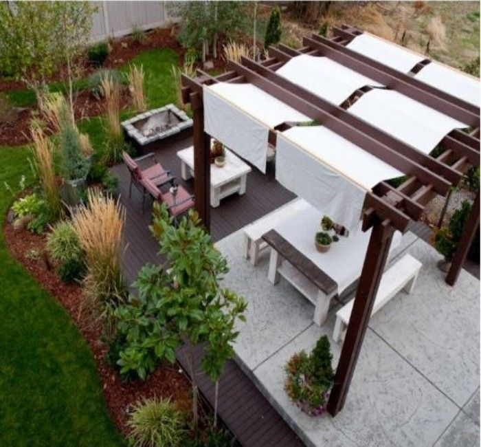Yard Covering Ideas: Best 25+ Covered Pergola Patio Ideas On Pinterest