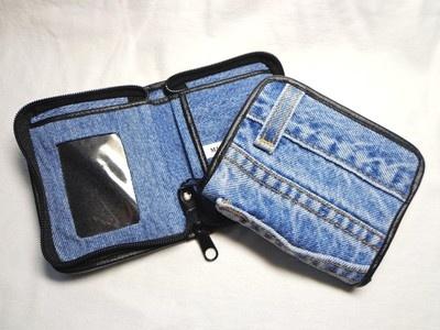 Recycled Upcycled jeans denim wallet#DIY#+++BILLETERA MONEDERO TELA TEJANA DE VAQUEROS PANTALONES JEANS RECICLADA REUTILIZADA MANUALIDAD COSTURA COSER CREMALLERA