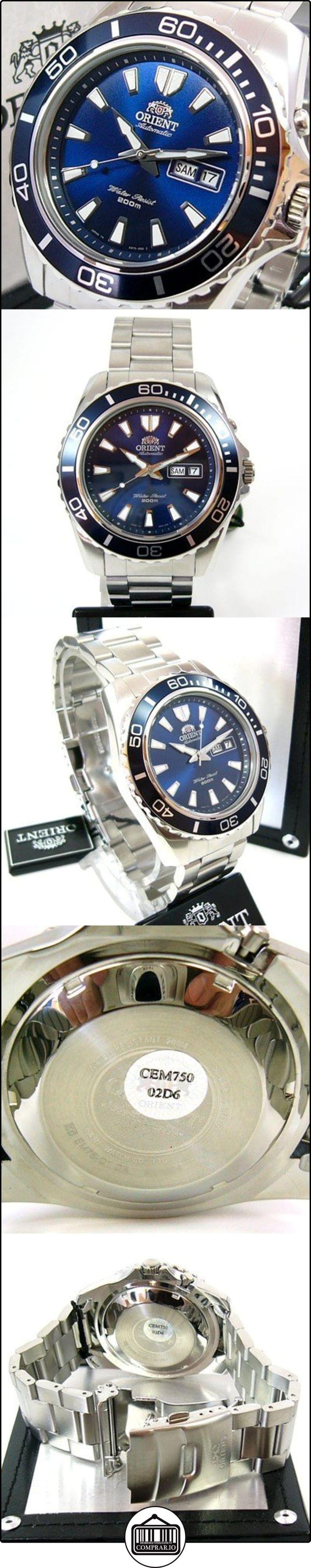 Orient Deep - Reloj de buceo con correa de acero  ✿ Relojes para hombre - (Gama media/alta) ✿