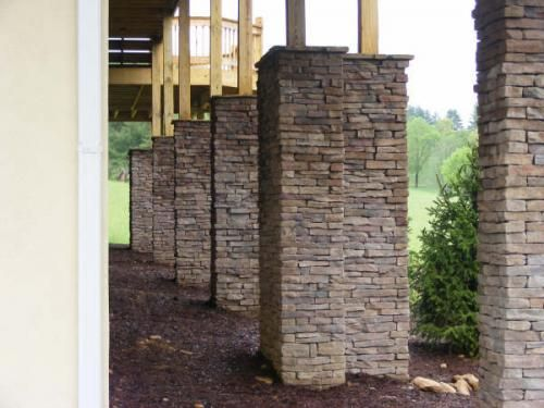 Dry Stone Pillar : Images about seating bench walls and columns on