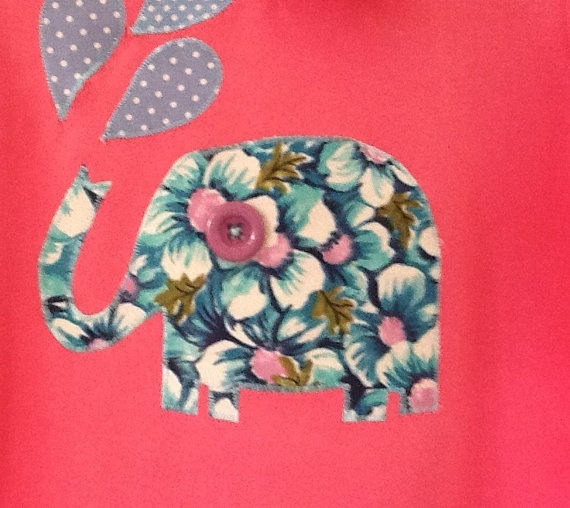 Ready to post Cute blue and purple elephant in by HaroldandWinnie, $23.00