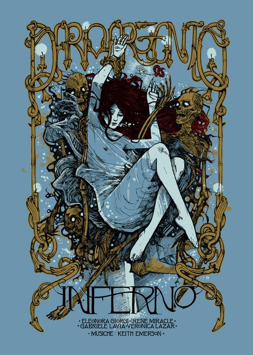Posters for Dario Argento's horror films by Malleus Rock Art Lab - Inferno