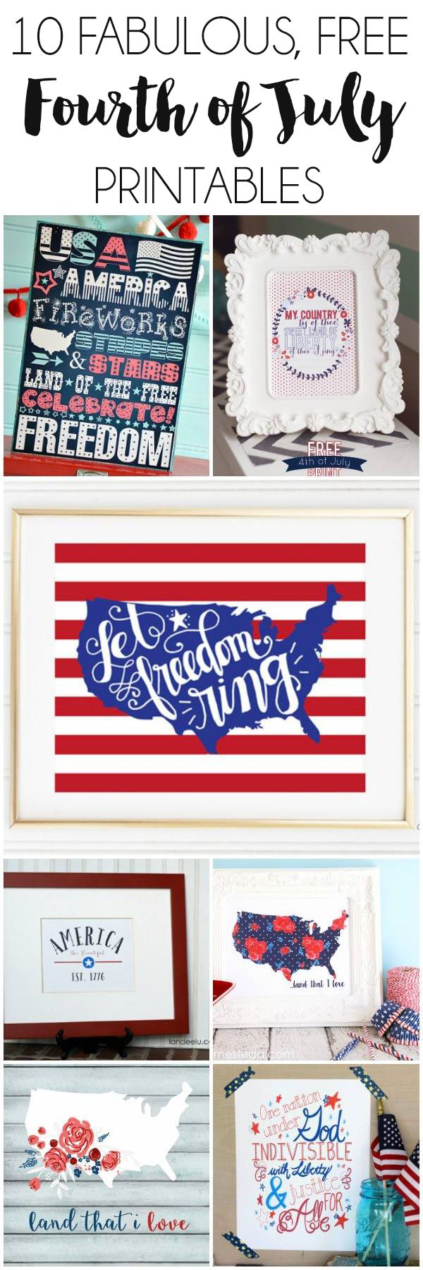 10 Free 4th of July Printables | dawnnicoledesigns.com