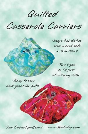 Quilted Casserole Carrier E-Pattern from SewBaby
