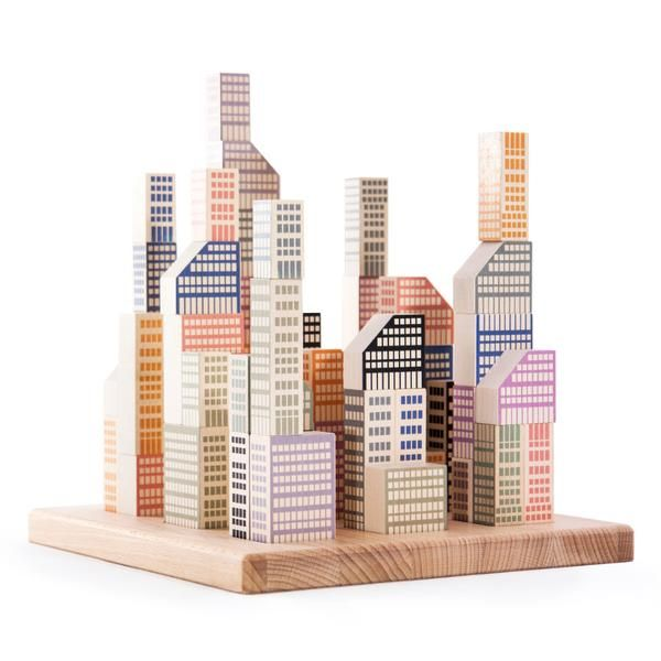 Budding young architects will love our new wooden Manhattan City Blocks! Children and adults alike will enjoy designing their very own city skyline with this bu