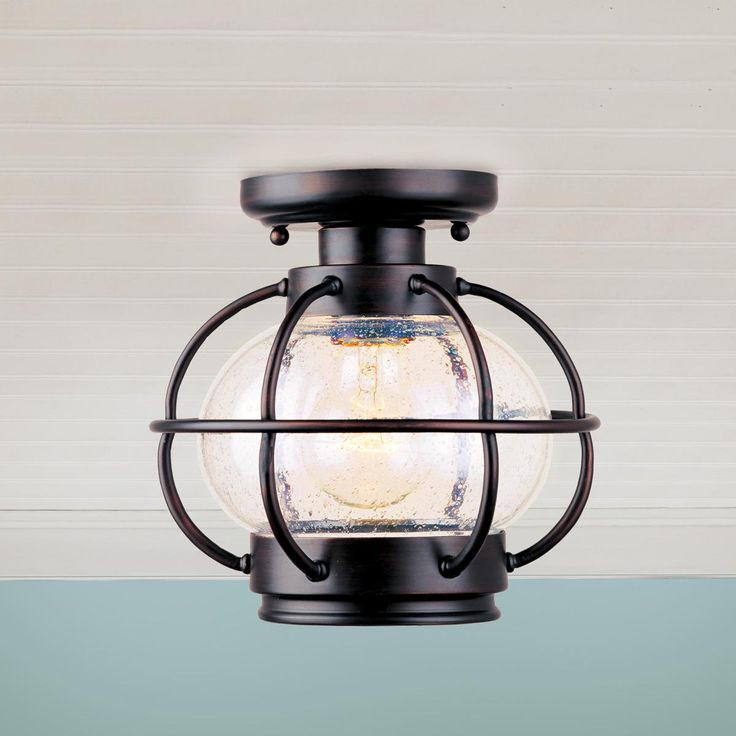 Nautical Onion Outdoor Ceiling Light - hallway option