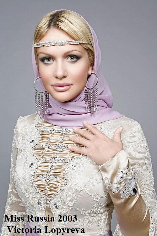The winner of Miss Russia 2003 Victoria Lopyreva from Rostov-on-Don.