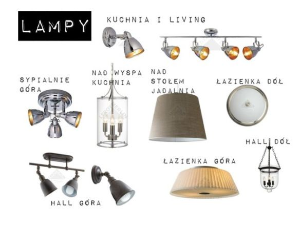 Lamp selection by Diana Hołd. Cheap lamps, Hampton style