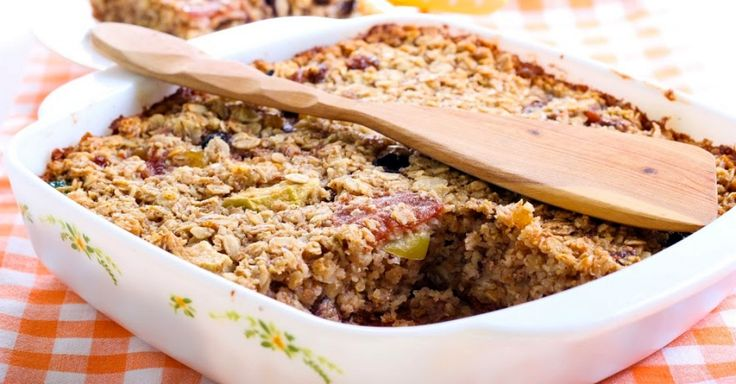 This hearty baked oatmeal is great for those busy weekday mornings!