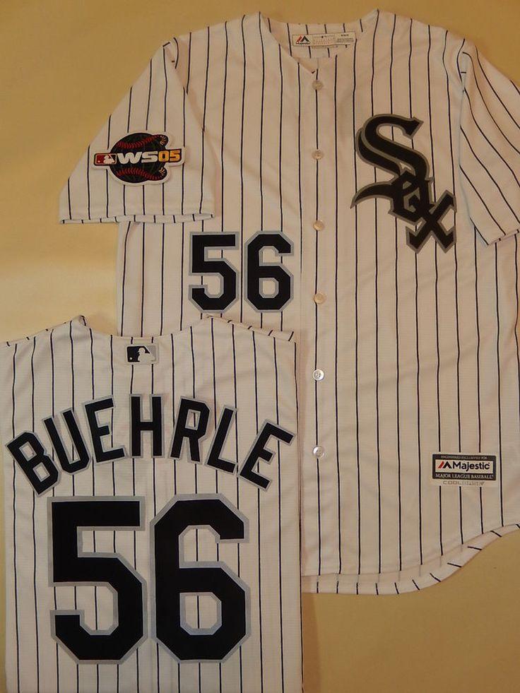 18723b0d8 ... netherlands 56 jersey 7608 majestic white sox mark buehrle 2005 world  series sewn baseball jersey wht