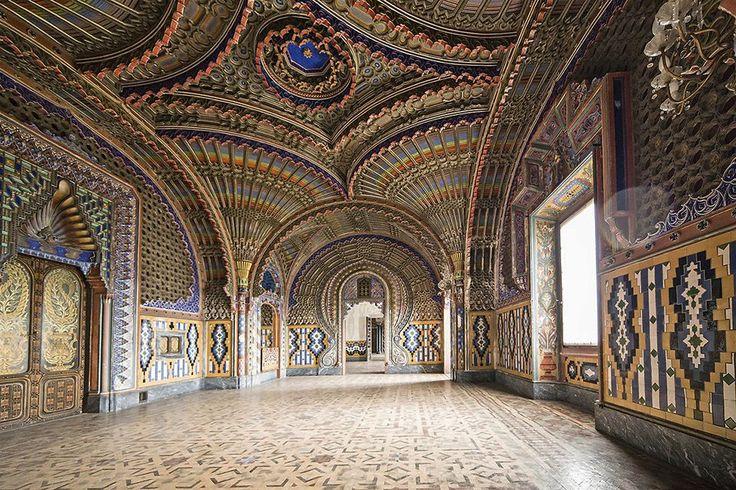 sala dei pavoni castello di sammezzano