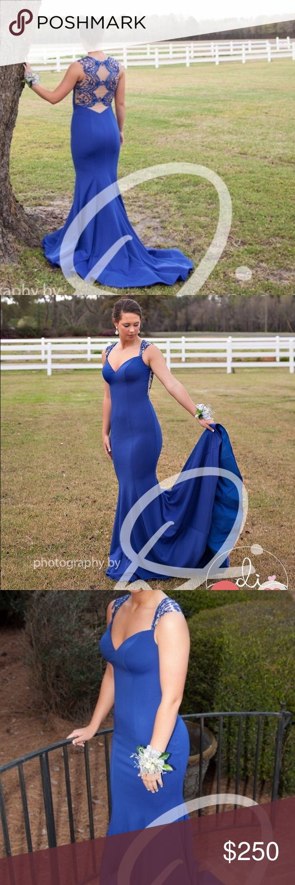 Sherri Hill blue prom dress Royal Blue Sherri Hill prom dress with beading on the back. Size 2 in great condition. Worn once! Price negotiable. Sherri Hill Dresses Prom