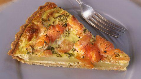 Potato, Smoked Salmon and Dill Tart - RTE Food
