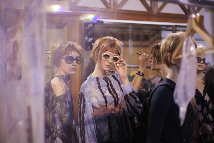 Backstage of Ulyana Sergeenko Fall-Winter 2016/17 Couture collection