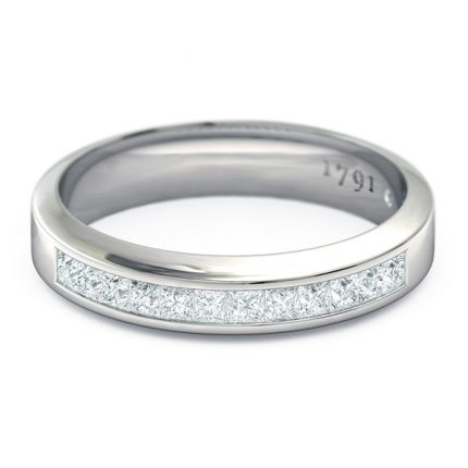 Elena Women's Wedding Band in 18kt White Gold - Top View