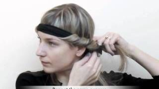 Trade Secrets - How to curl your hair using a Bohemian headband, via YouTube.