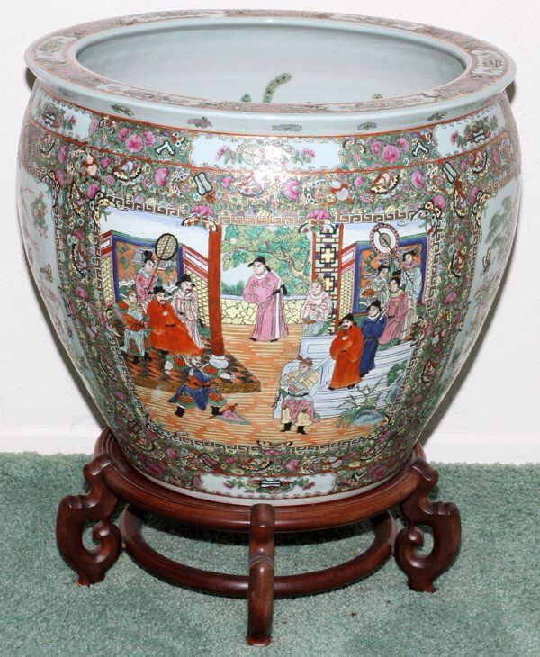 17 best images about chinese rose mandarin porcelain on for Chinese fish bowl