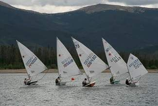 Young Sailors take to Lake Dillon for Junior Olympic Event | Youth sailors participate in a race during last year's Junior Olympic Sailing Festival on Lake Dillon. The U.S. Sailing event, now in its second year at Lake Dillion, is the country's only Junior Olympic race hosted at an inland lake.