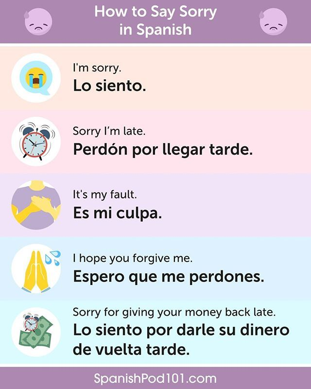 Learn Spanish Spanishpod101 No Instagram How To Say 𝑰 𝒎 𝒔𝒐𝒓𝒓𝒚 In Spanish Don T Forget To Click The Link In Our Bio Spanishpod To Learn More Spa I 2020