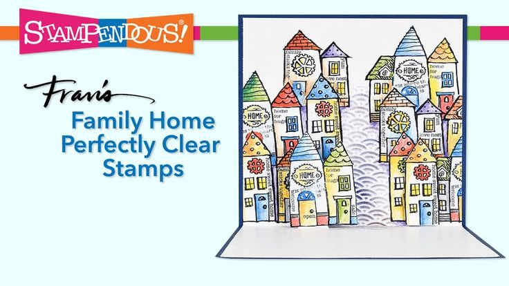 Family Home Perfectly Clear Stamps