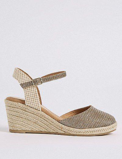 Wide Fit Wedge Heel Espadrilles  | Marks & Spencer London