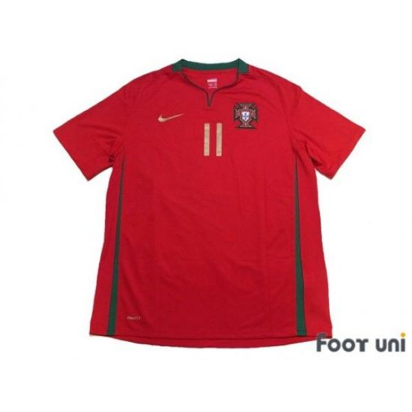 Photo1: Portugal Euro 2008 Home Shirt #11 Simao w/tags - Football Shirts,Soccer Jerseys,Vintage Classic Retro - Online Store From Footuni Japan