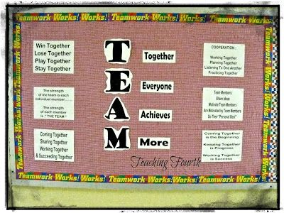 teamwork bulletin boards ideas | Mrs. R. is always so creative at creating bulletin boards with cute ...