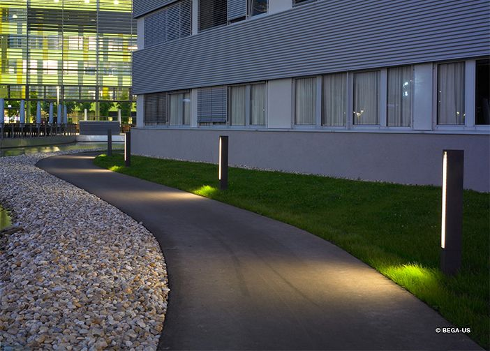 Simple Outdoor Lighting Design Commercial Business