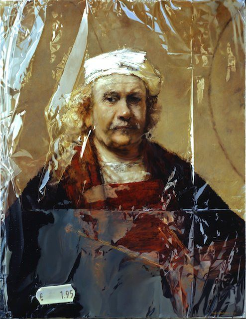 Rembrandt's Zelfportret (Rembrandt's Self-portrait) in Plastic from 2002 115 x 95 cm