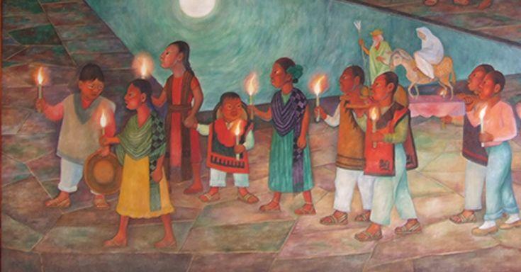 Los niños pidiendo posada, Diego Rivera, 1953