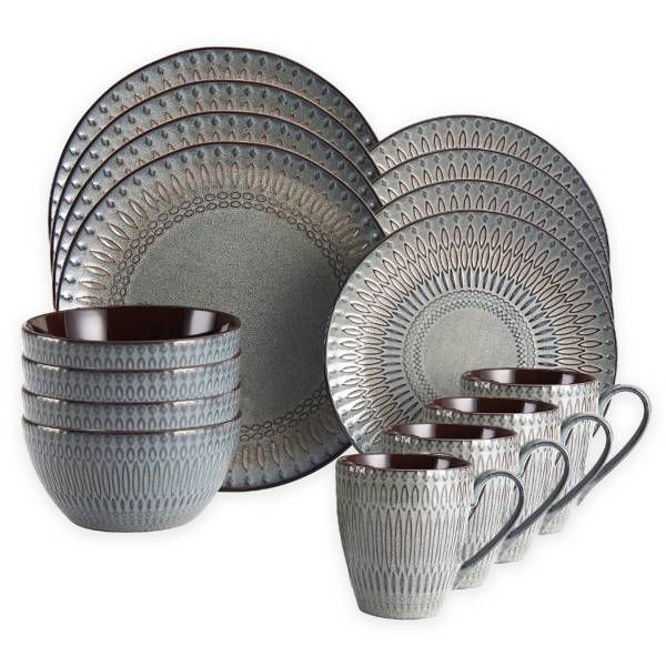 gourmet basics by mikasa broadway 16piece dinnerware set