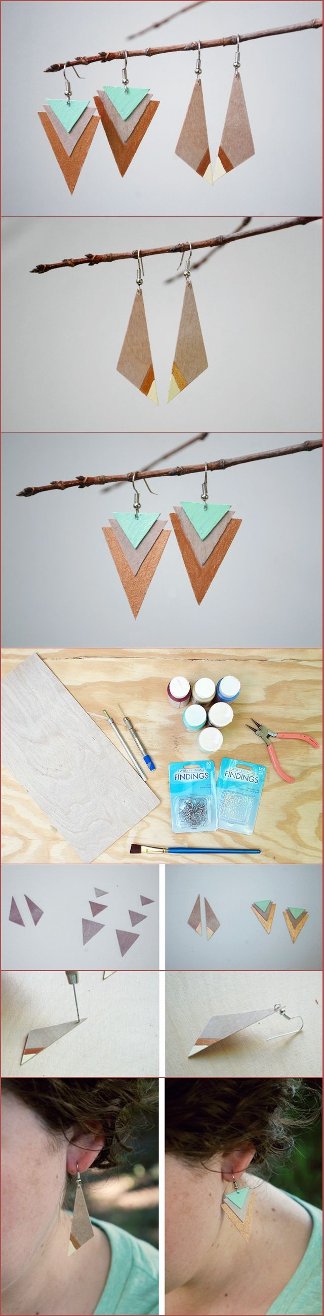 Diy Wood Earrings – Two Ways