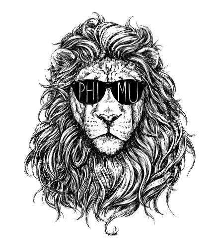 Phi Mu Lion by Maggie Fitch | Phi Mu T-shirt | Bid day | Phi Mu | Sorority |