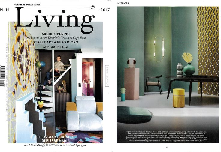 #Cafédeflore jar, #amoveablefeast collection, design by #ElenaCutolo for #altreforme, published on LIVING #italy november 2017, #interior #home #decor #homedecor #furniture #aluminium #woweffect #madeinitaly