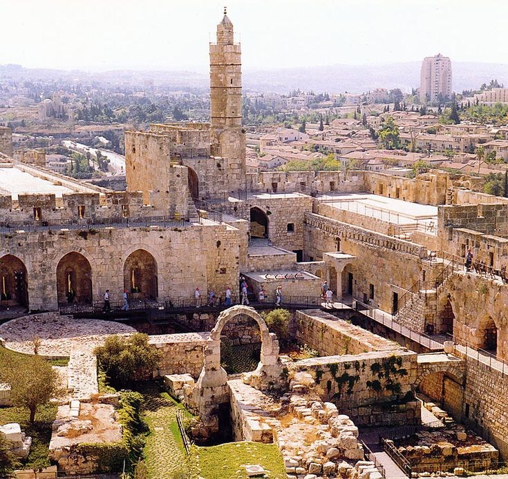 pictures of jerusalem today   top (W)   2.below (Herod's palace -the three towers)   3.right - the ...