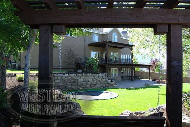 Attached Two Story Pergola And Free Standing Pergola With
