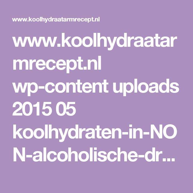 www.koolhydraatarmrecept.nl wp-content uploads 2015 05 koolhydraten-in-NON-alcoholische-dranken.pdf