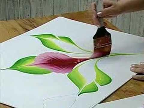 Luz Angela how to paint amazing flower super easy