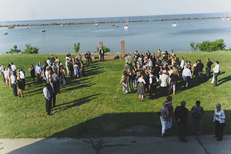 Milwaukee Lake Michigan Outdoor Wedding South Shore Park Pavilion Peony Bouquet