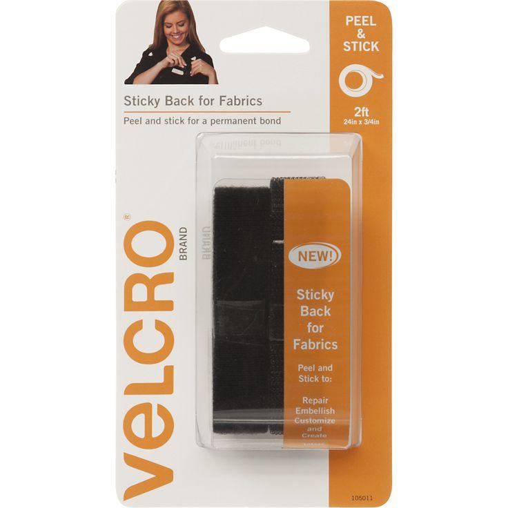 "VELCRO(R) Brand STICKY BACK For Fabric Tape .75X24""""-Black"