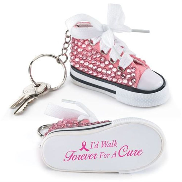 Get this adorable keychain to spread the word at fundraisers and events. #BreastCancerAwareness