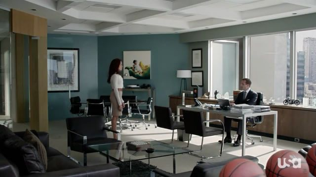 Harvey Specter's office, finally an office big enough for your balls...