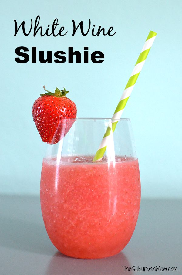 Strawberry White Wine Slushie - two easy methods to make this drink depending on how much time you have and how many people you need to serve.