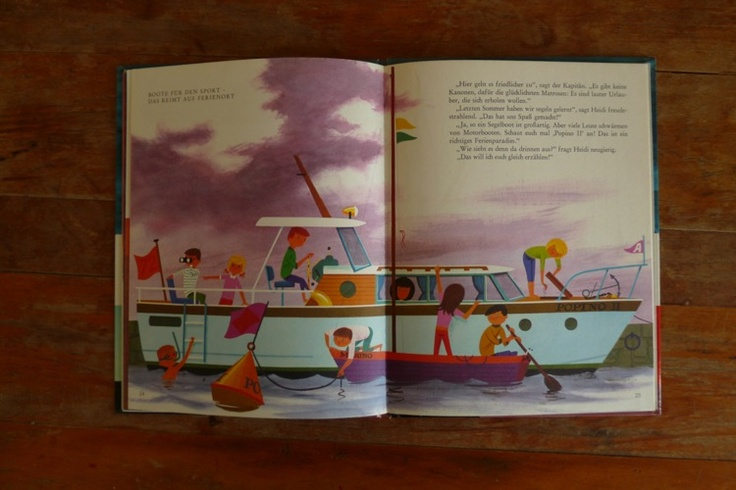"""Pictures from the picture children reading book """"Heidi und Peter / Schiffe""""     illustrations by: Alain Gree"""
