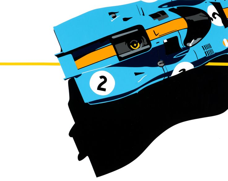 917 (Porsche). Hand-cut vinyl painting. More at www.joelclarkartist.carbonmade.com