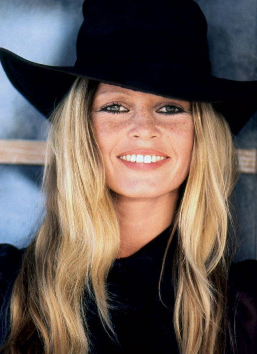 love the freckles and crinkles around her eyes. brigitte bardot photographed by leonard de raemy in 1970.: Hats, Fashion, Style, Beauty, Brigitte Bardot, Brigittebardot, People