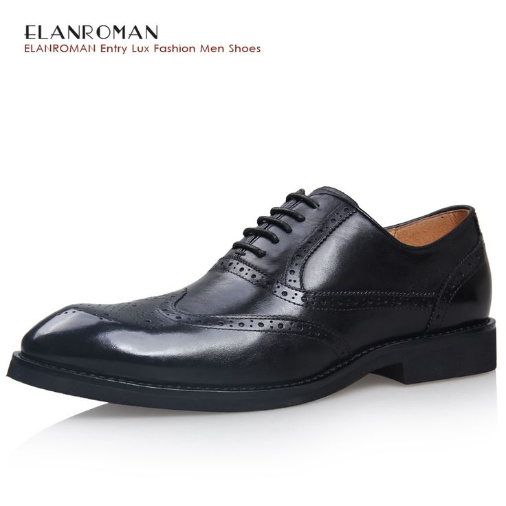 165.00$  Watch here - http://alimnj.worldwells.pw/go.php?t=32756315871 - 2016 Fashion 100% Genuine Leather Men Dress Shoes Luxury Men's Business Casual Shoes Classic Gentleman Shoes Brand ELANROMAN